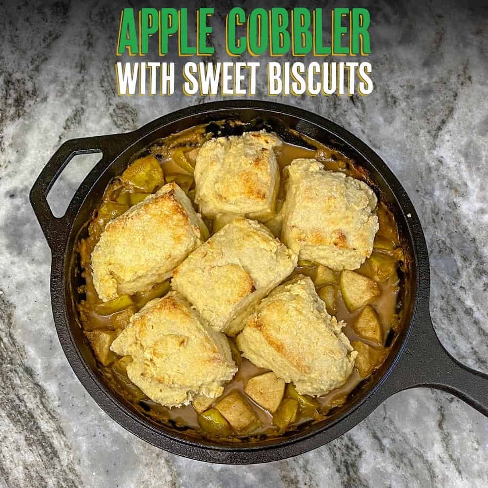 Apple Cobbler with Sweet Biscuits