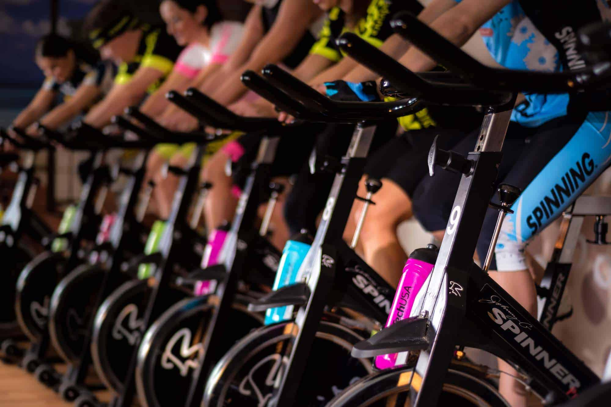 Spinning fitness class