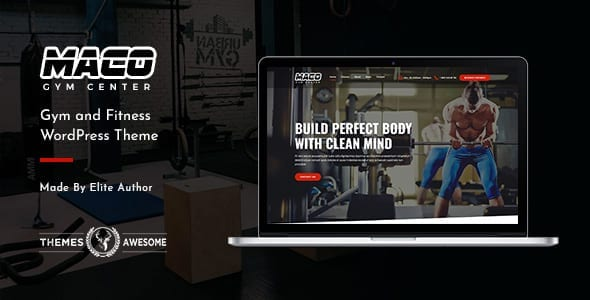 Wordpress Theme for Fitness Trainer Websites