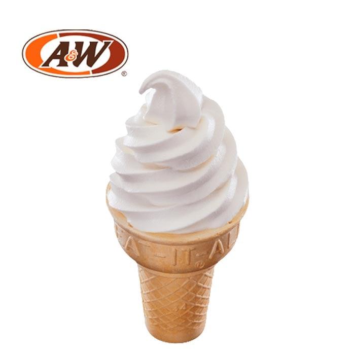 A&W Vanilla Cone