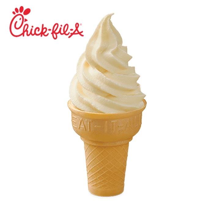 Chick-fil-A Vanilla Cone