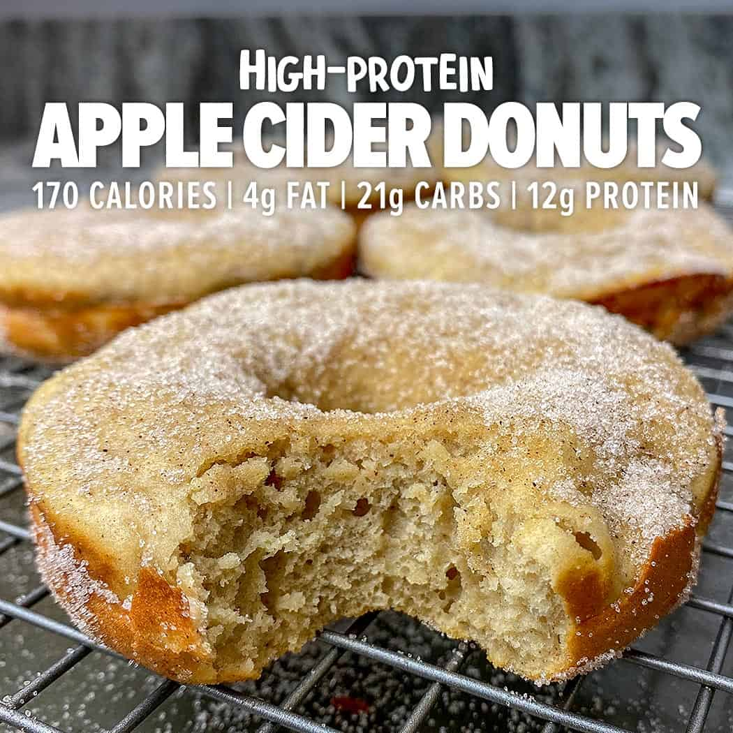 High protein apple cider donuts
