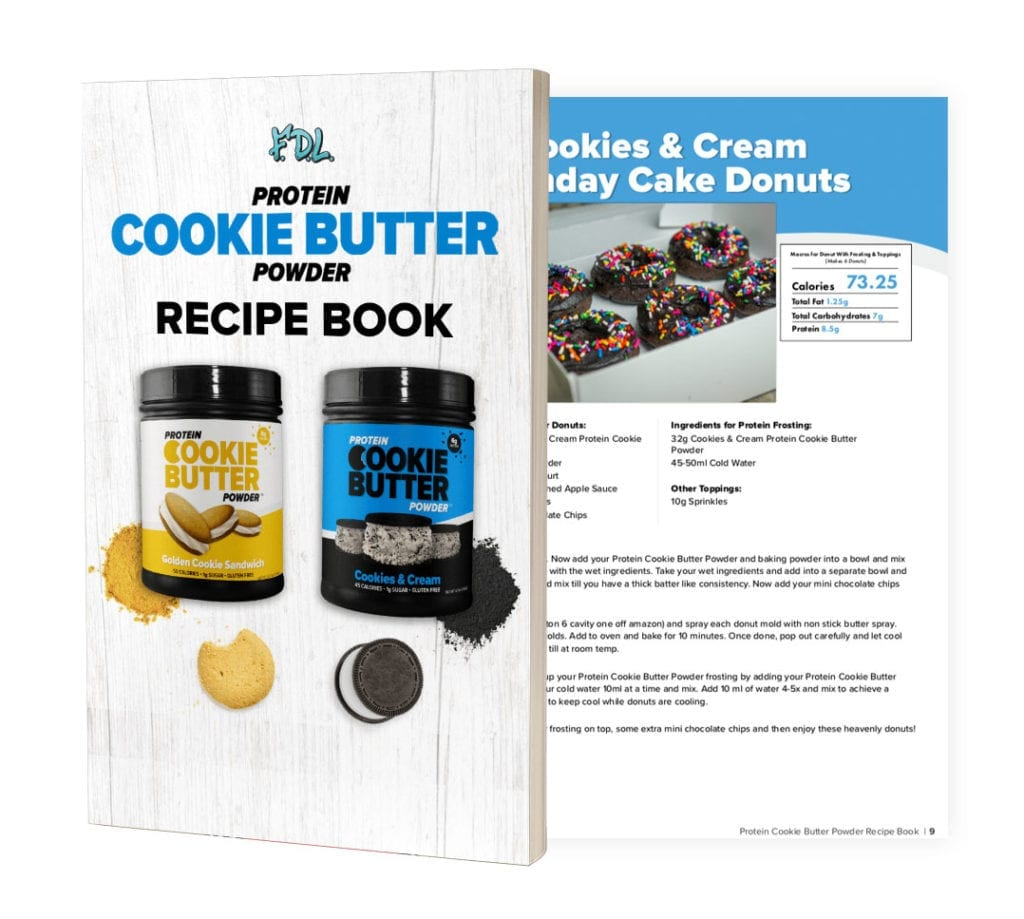 Protein Cookie Butter Powder Recipe Book Preview