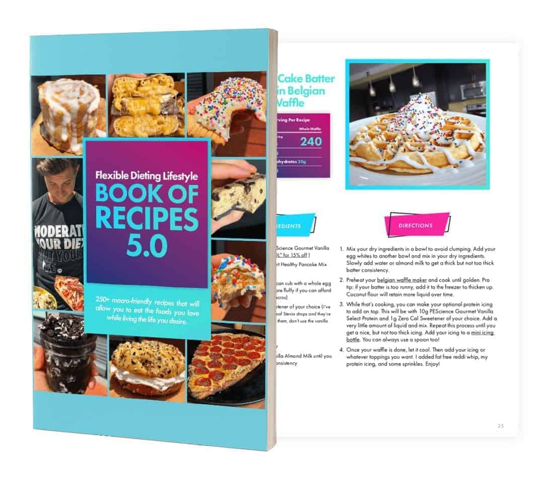 Flexible Dieting Lifestyle Book of Recipes Mockup