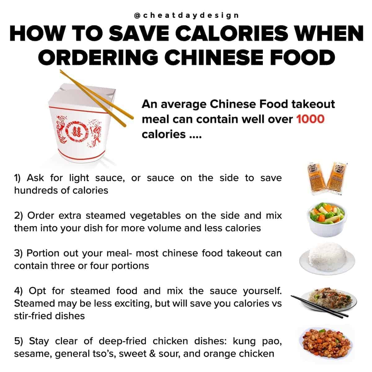 How to cut calories when ordering chinese food