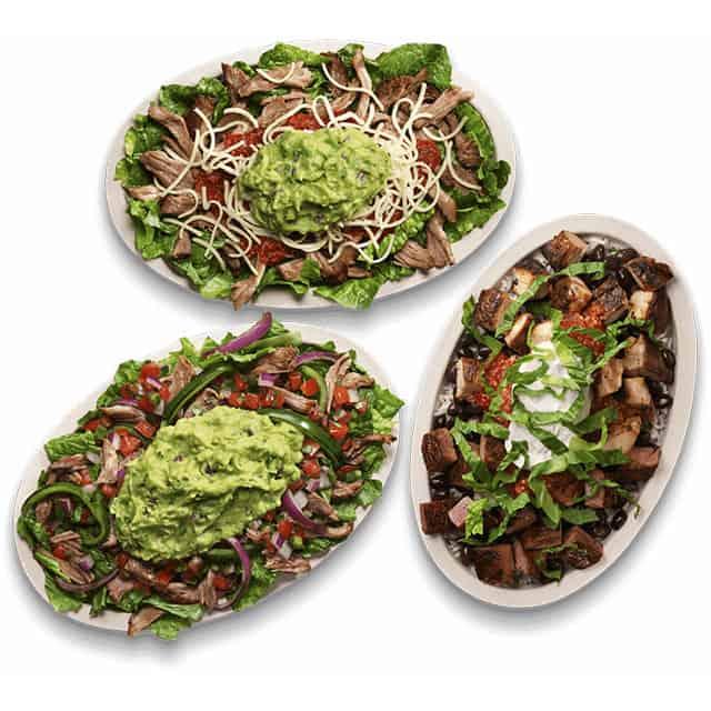 Chipotle keto salads