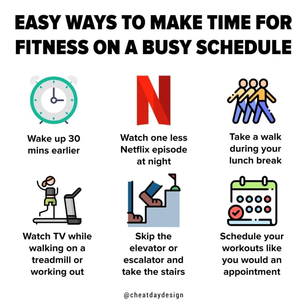Easy ways to make time for fitness on a busy schedule