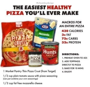 Easy, healthy pizza recipe