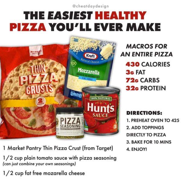 Easy, healthy pizza recipe