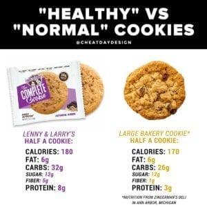 Lenny & Larry's vs regular cookies