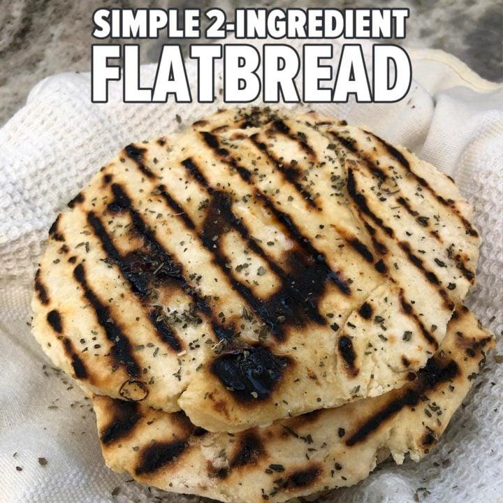 Simple 2-Ingredient Flatbread