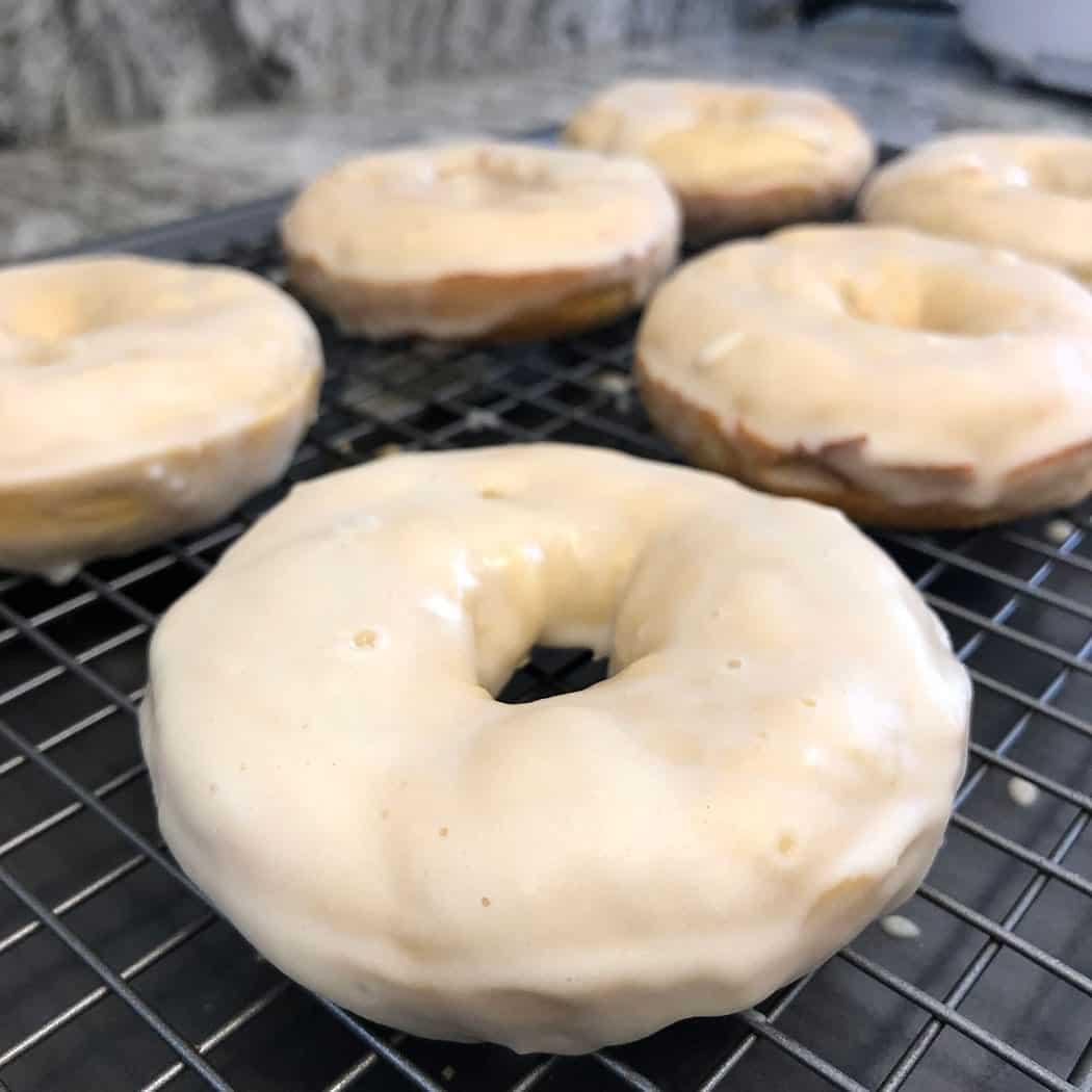 Protein glazed donuts