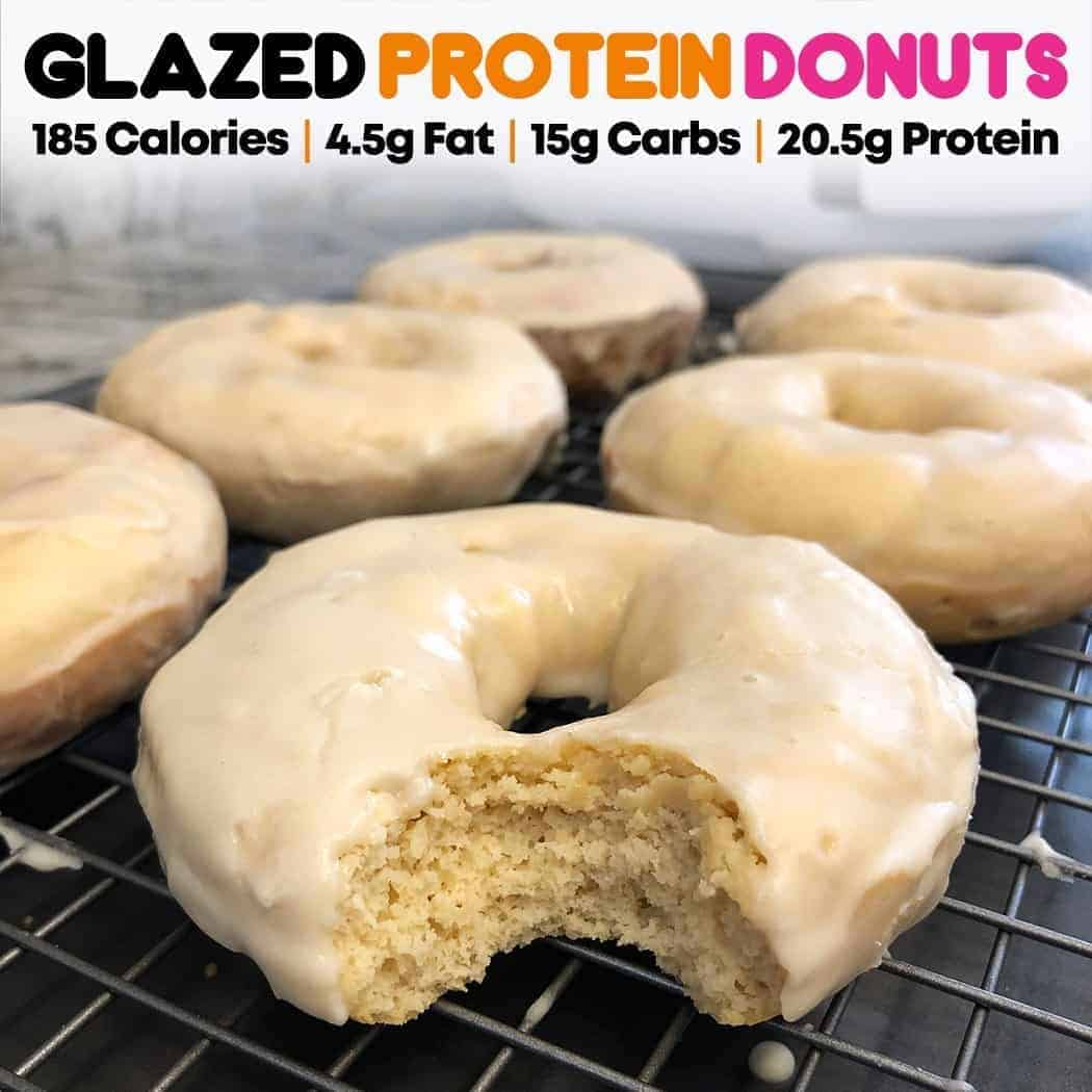 Protein glazed donut recipe