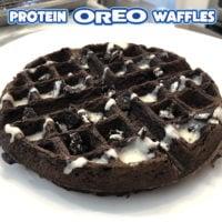 Protein Oreo Waffles