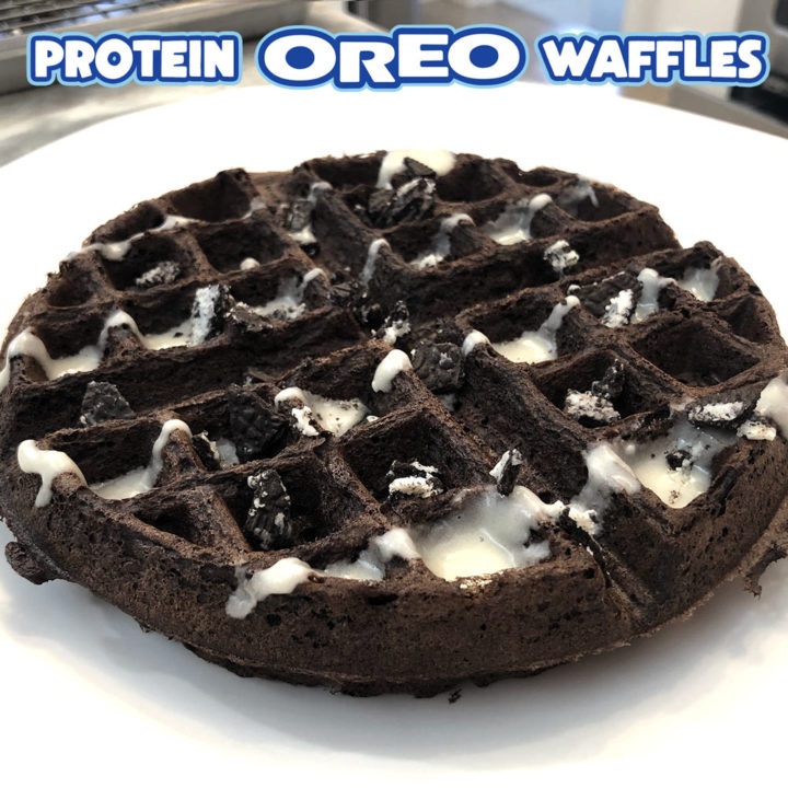 High-Protein Oreo Waffles