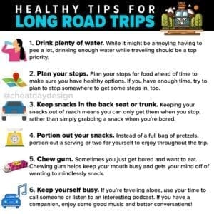 Healthy tips for long road trips