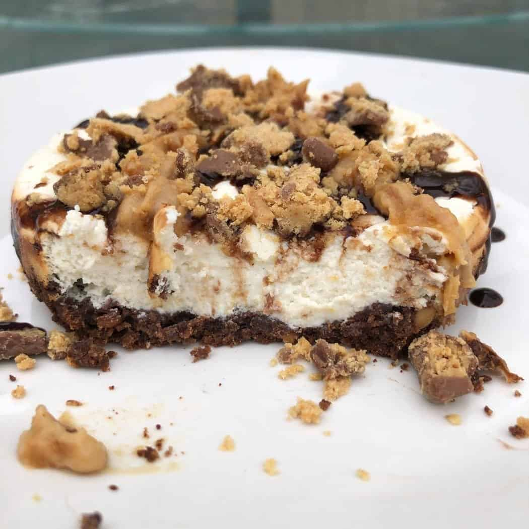 Protein Reese's Peanut Butter Cup Cheesecake