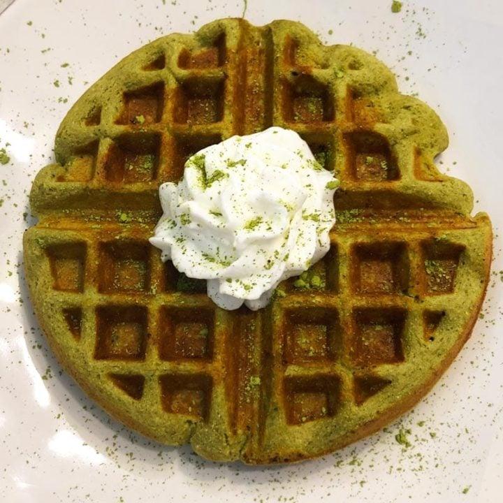 Matcha Latte Protein Waffle