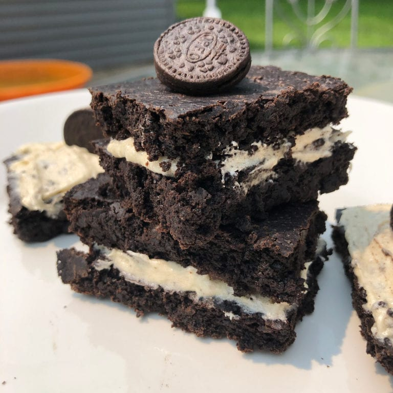 Oreo Protein Brownies