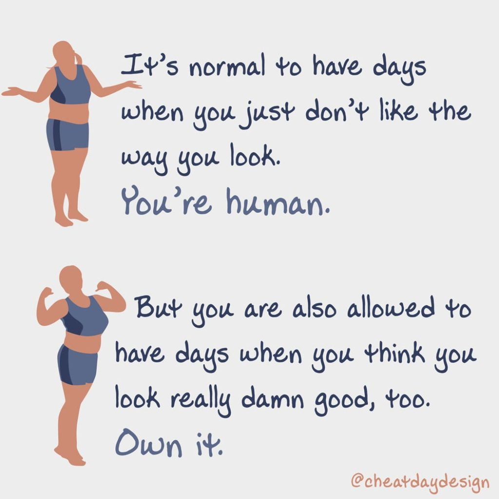 You're allowed to feel like you look good