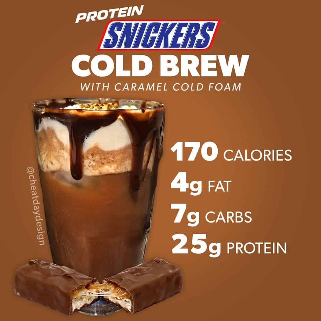 Protein Snickers Cold Brew