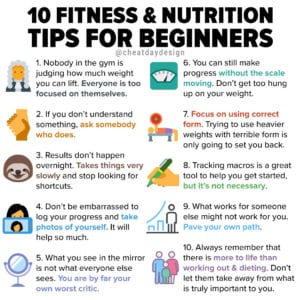 10 fitness & nutrition tips for beginners