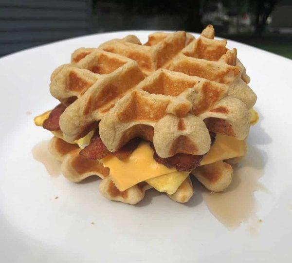 Protein Waffle Breakfast sandwich