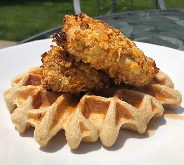 protein chicken & waffles