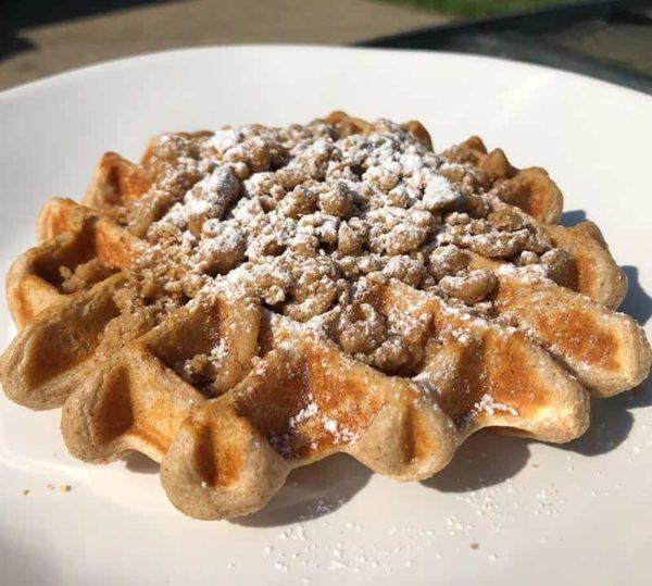 Protein Waffle crumb cake