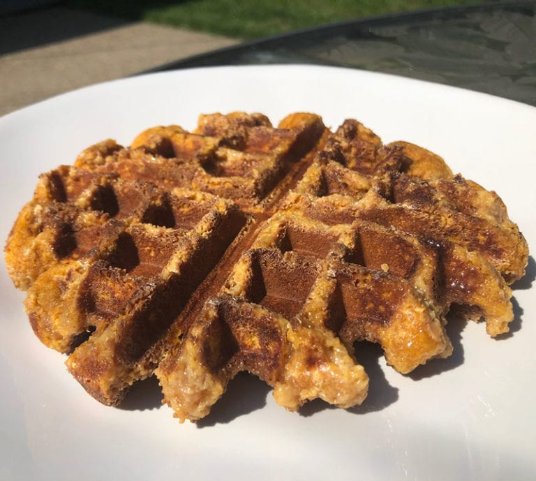 creme brulee Protein Waffle