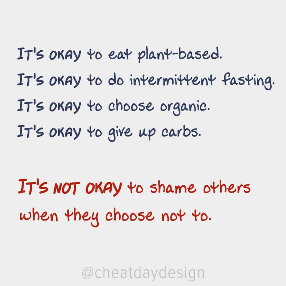 Stop diet shaming