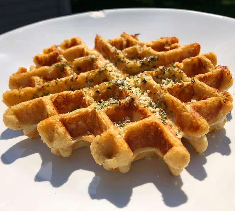 Protein garlic bread Waffle