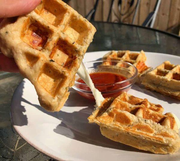 Protein mozzarella stick Waffle