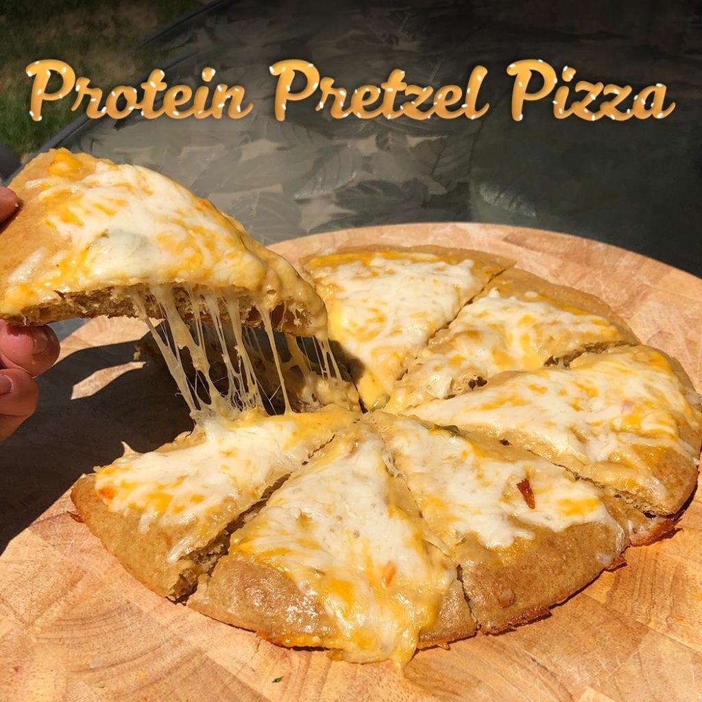 Protein Pretzel Pizza