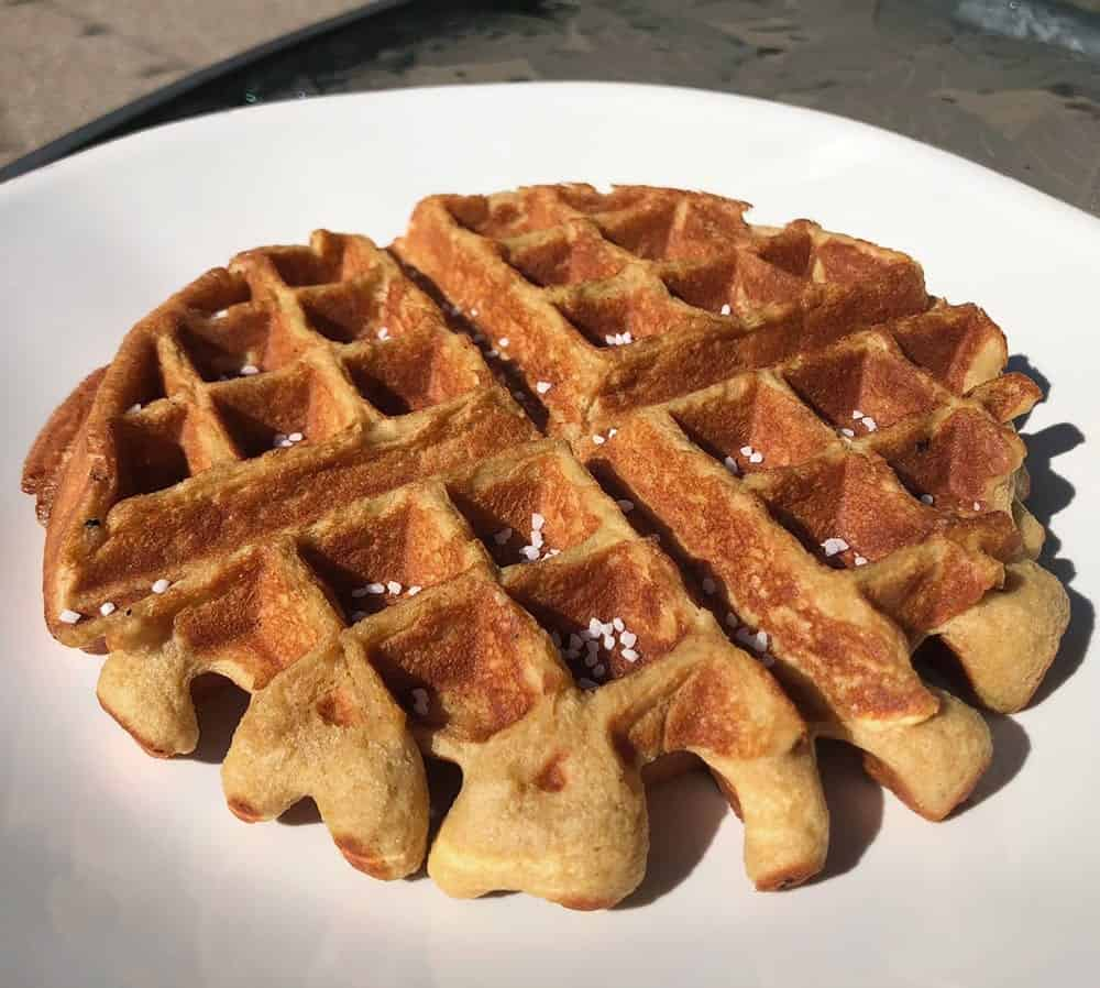 Protein pretzel Waffle
