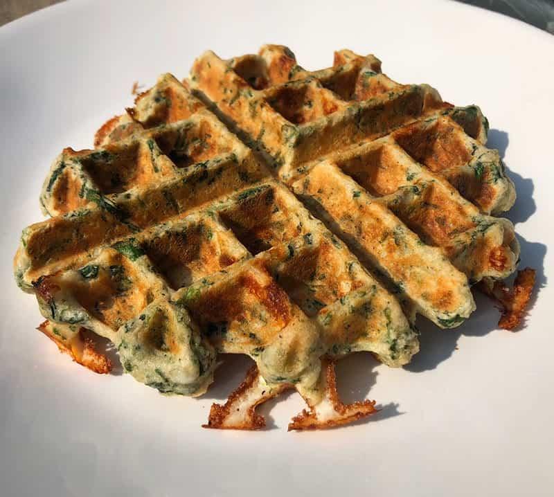 spinach feta Protein Waffle