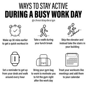 Working out during work day