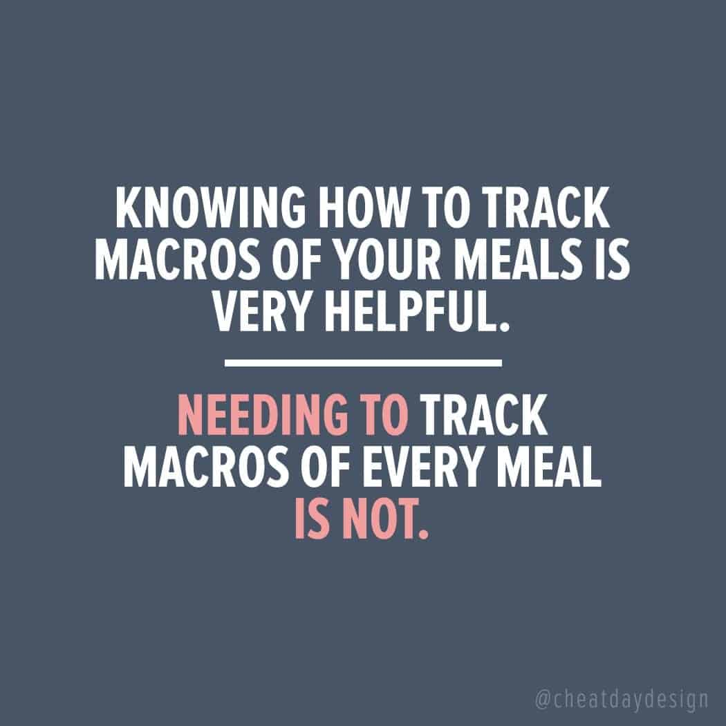 Do you need to track macros?