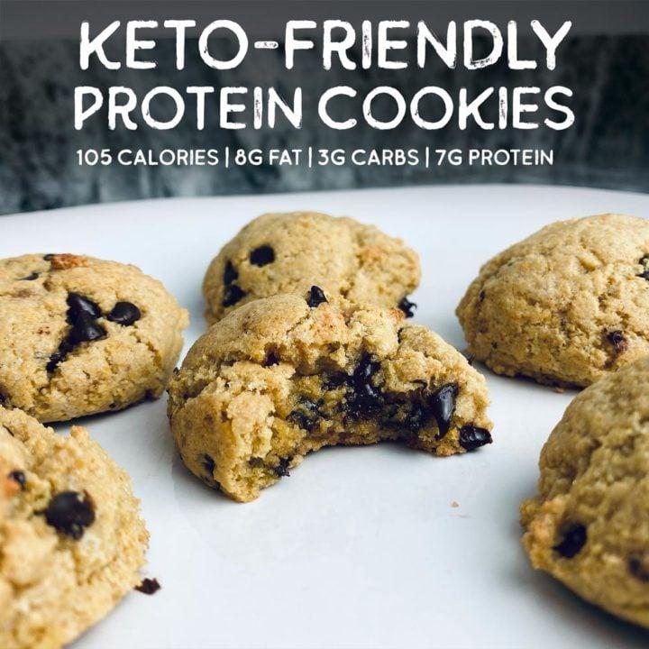 Keto-Friendly Chocolate Chip Cookies Protein Cookies
