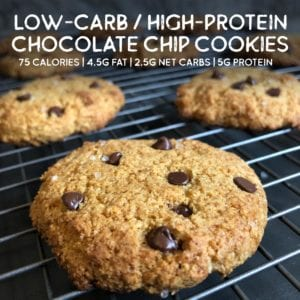 keto-friendly high-protein chocolate chip cookies