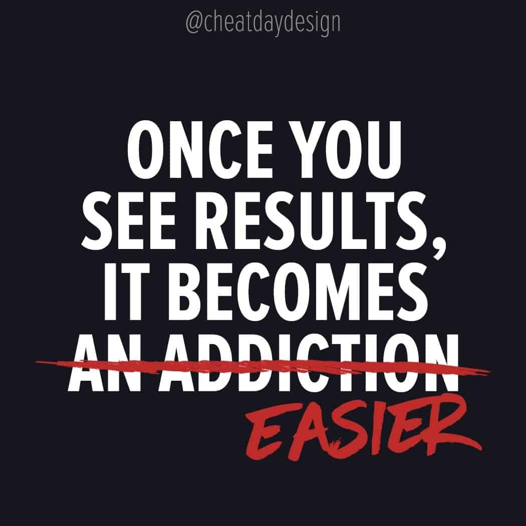 Once you see results it becomes easier