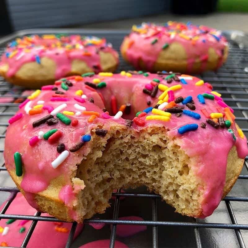 Pink Frosted Donuts