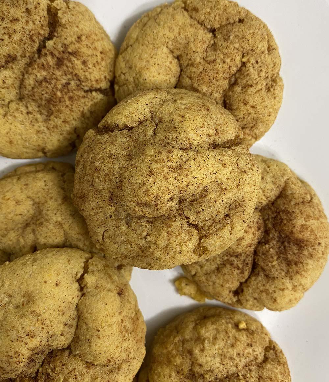 Soft pumpkin protein cookies