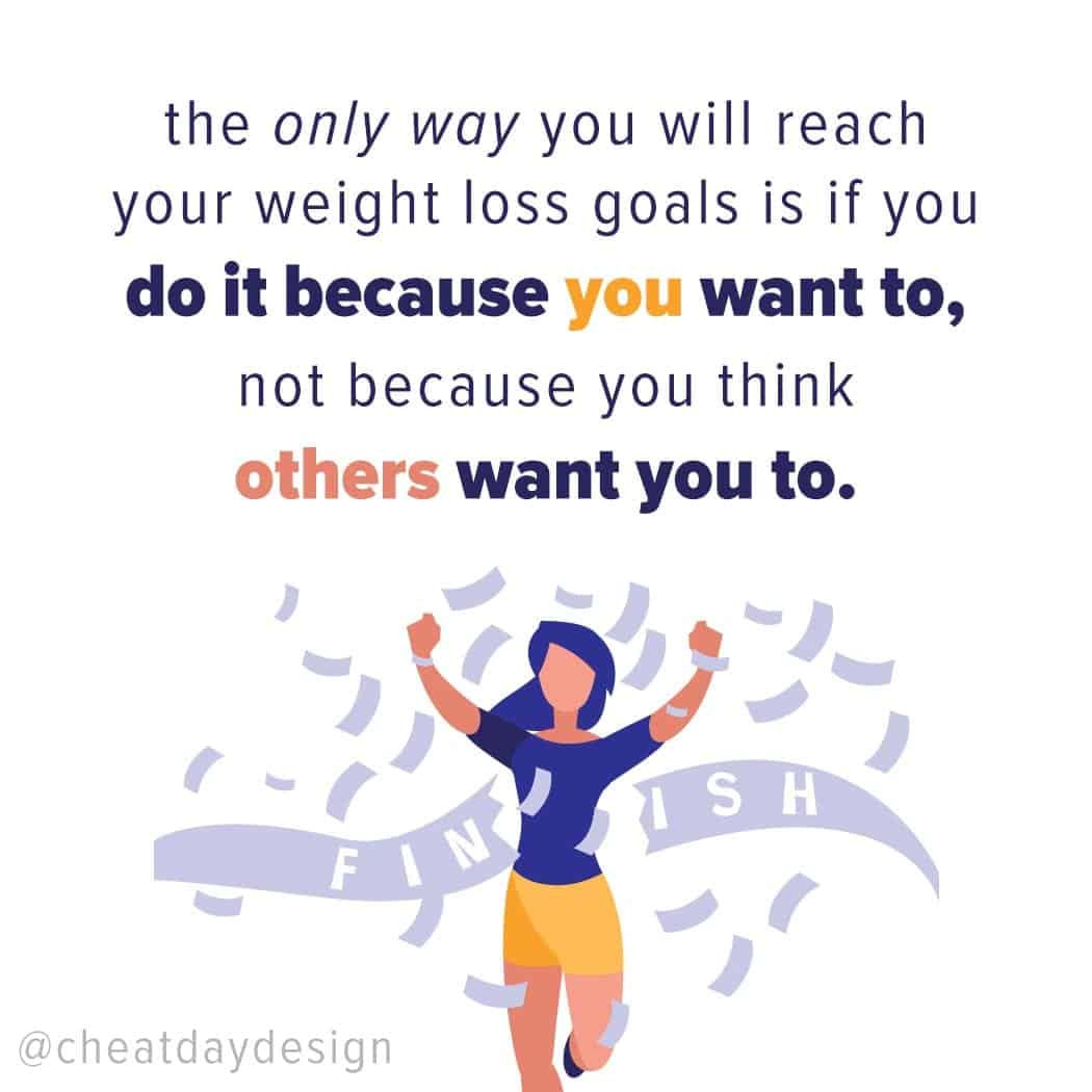 Lose weight for you and not anyone else