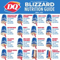 Calories in small DQ Blizzards
