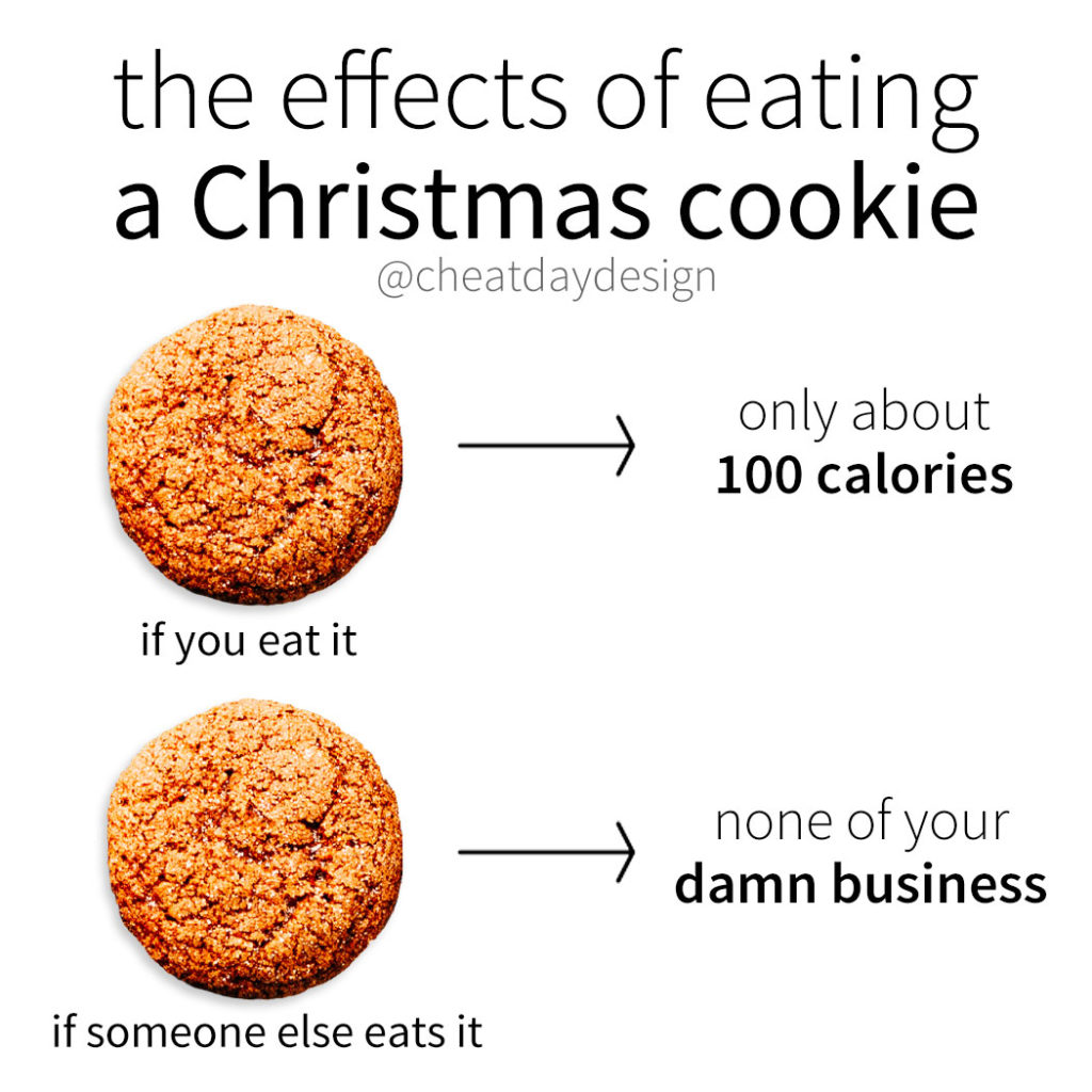 calories in christmas cookies