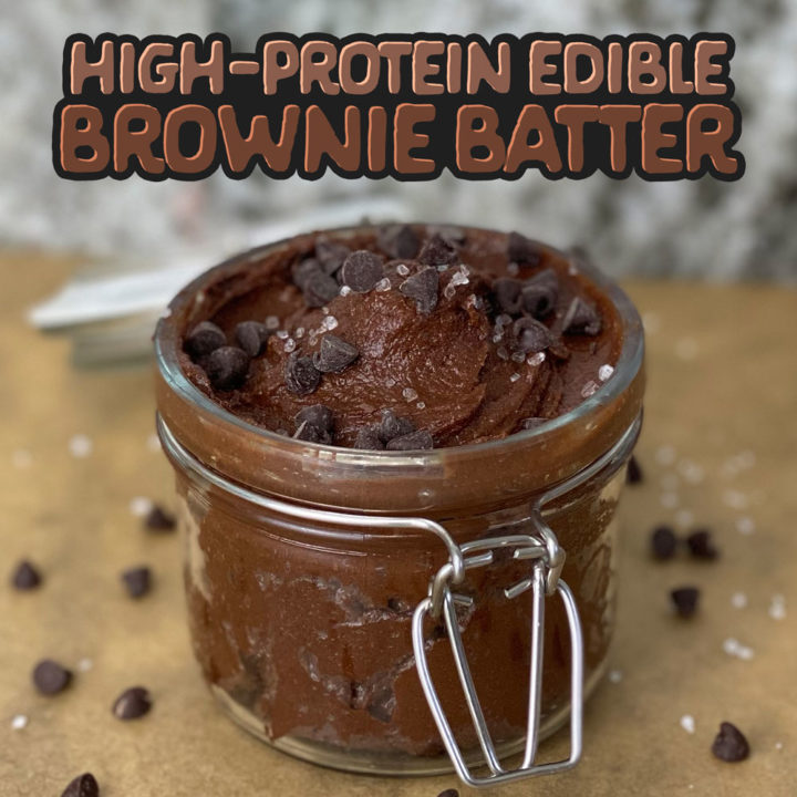 High-Protein Edible Brownie Batter