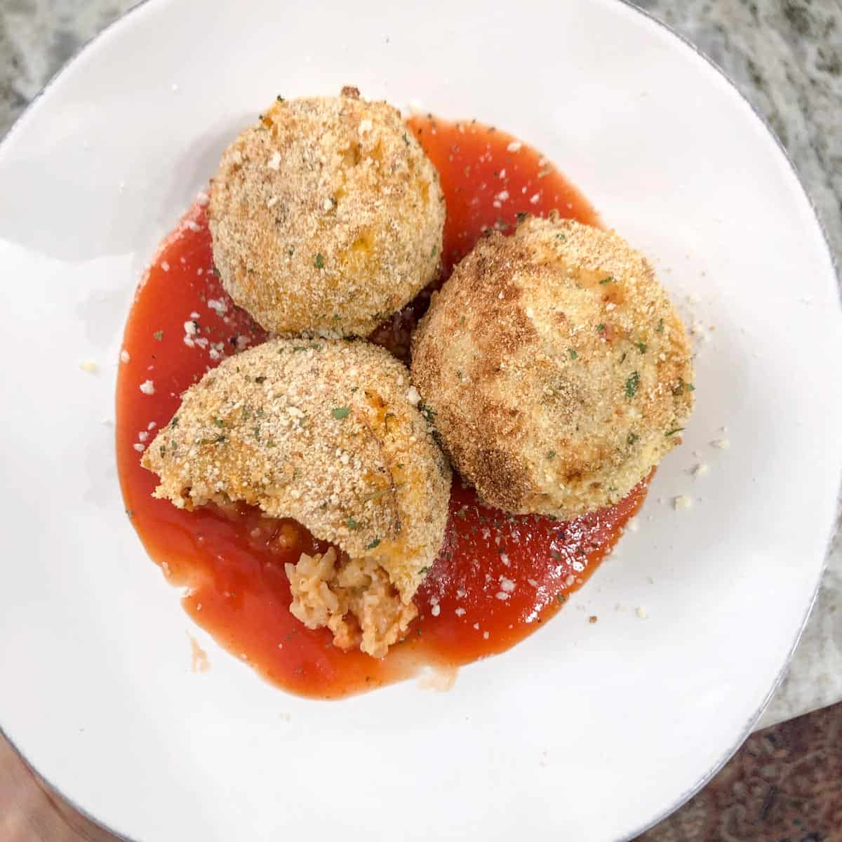 Cauliflower Rice Balls
