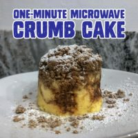 One minute microwave crumb cake