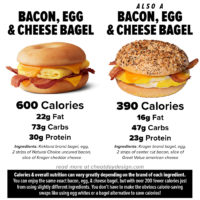 Calories in a Bacon Egg and Cheese Bagel